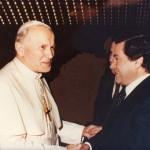 1975 GERVASIO MARCOSIGNORI CON PAPA WOJTYLA