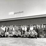 1977 accordatori italiani in visita allo stabilimento pianoforti farfisa