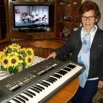 Anna Gambini responsabile di linea organi Farfisa con SG 61