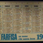 calendario pubblicitario farfisa 1981