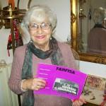 Cesarina Recanatini jolly di linea Farfisa con il manuale modello 150