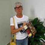 Cinzia Ballarini collaudo piastre Farfisa con la scheda PA 643