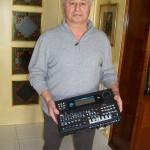 Fausto Bacalini tecnico di laboratorio Farfisa con il 7X