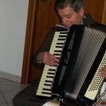 Gervasio Marcosignori dimostratore Farfisa con la fisarmonica Scandalli