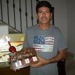 Giorgio Cecchi riparatore Farfisa con la scheda PA 593