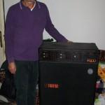 Giuseppe Carlini reparto finitura pianoforti Farfisa con il P 200