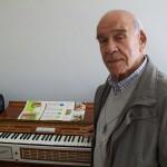 Giuseppe Scandali collaudatore  pianoforti Farfisa con il Pianorgan