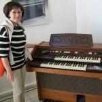 Ileana Piergiacomi responsabile circuiti stampati Farfisa con il modello 252