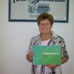 Jolanda Osimani saldatura trefoli Farfisa con il manuale Fk 40