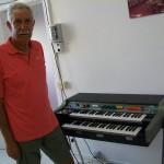 Leonardo Giampieri progettista di laboratorio Farfisa con il Vip 500