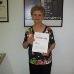Luisa Osimani jolly di linea Farfisa con il manuale Professional Piano