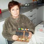 Maria Grazia Guercio reparto produzione Farfisa con la scheda PA 365