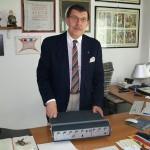 Mauro Bignami presidente amministratore delegato direttore generale Farfisa con preamplificatore Os 42 Sr