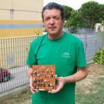 Pietro Gazzella magazzino spedizioni ricambi Farfisa con la scheda PA 1332