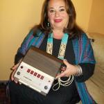 Rita Ritucci corrispondente in lingue estere Farfisa con Rhythm 10