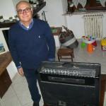 Roberto Raffaeli progettista di laboratorio Farfisa con il Tr 70