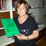 Velia Sampaolesi jolly di linea Farfisa con il manuale Polycrome