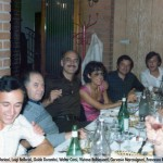 Gervasio a cena con colleghi Farfisa (1976)