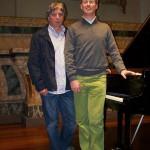 Claudio con il compositore Daniele Gasparini