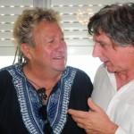 Claudio con il fisarmonicista Jean Louis Noton