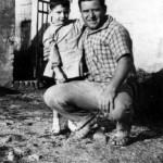 Claudio con il babbo Dino Enrico