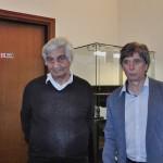 Claudio con il professore e scrittore Sandro Strologo