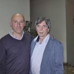 Claudio con Lorenzo Antonelli titolare fabbrica voci armoniche