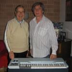 Claudio con Santi Latora