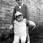 Claudio con il fratello minore Alessandro