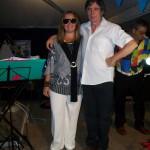 Claudio con la cantante Michela