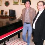 Claudio con monsignor Gianni Danzi