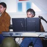 Claudio con il figlio Roberto al sassofono