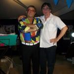 Claudio con il cantante Salvatore Ricciardi