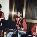 Claudio con Roberto Capponi al Sassofono e Paolo alla fisarmonica