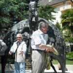 Gervasio al monumento della fisarmonica di Castelfidardo