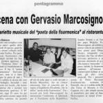 Gervasio articolo sul giornale La Meridiana del (26 Agosto 2011)