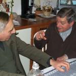 Gervasio con Adalberto Guzzini a casa di Claudio Capponi