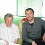 Gervasio con Alberto Orioli in ristorante