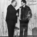 Gervasio con Beniamino Gigli (Roma dicembre 1954)