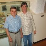 Gervasio con Claudio Capponi al museo internazionale della fisarmonica (Castelfidardo)