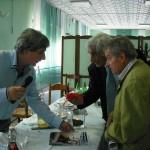 Gervasio con Claudio Capponi e Sandro Strologo in ristorante