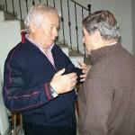 Gervasio con Dino Cocchini a casa di Claudio Capponi  (30 Ottobre 2009)