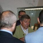 Gervasio con gli ospiti al museo della fisarmonica (Castelfidardo)