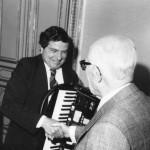 Gervasio con il presidente della repubblica Sandro Pertini (26 Febbraio 1985)