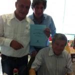 Gervasio con Marco Saracini e Claudio Capponi