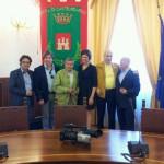 Gervasio foto di gruppo al municipio di Castelfidardo