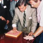 Gervasio al Museo delle impronte di Recoaro Terme (1997)