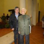 Claudio con il fisarmonicista Peppino Principe
